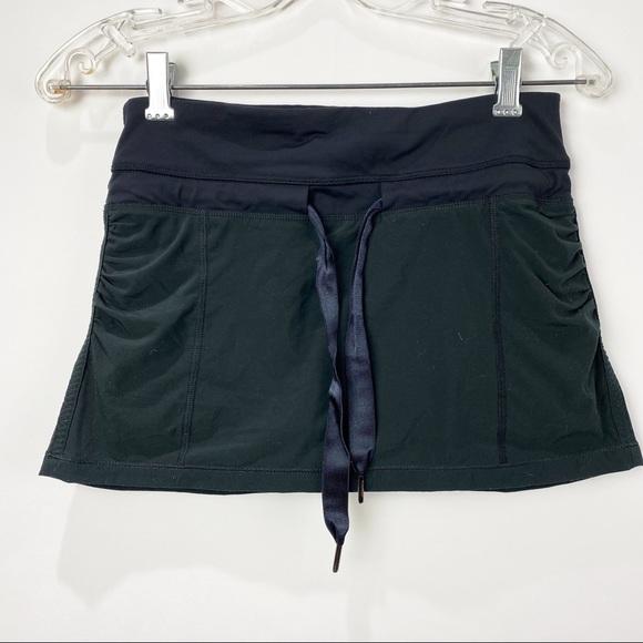 Lululemon black skort with shorts underneath